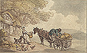 Rowlandson, Loading a Cart for Market
