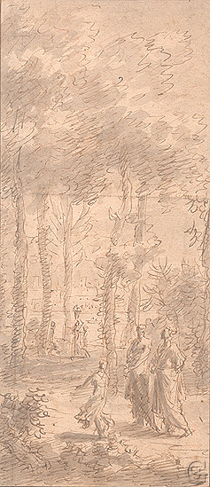 Moucheron , Classical Figures in a Grove of Trees