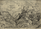 after Brueghel, Alpine Landscape