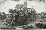 Piranesi, The Isola Tiberina with S. Bartolomeo in the Foreground