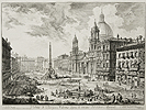 Piranesi, The Piazza Navona with S. Agnese on the Right