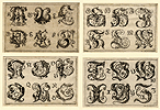 Wachsmuth, German Alphabet with Fantastic Figures