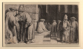 Rembrandt, Jews in Synagogue