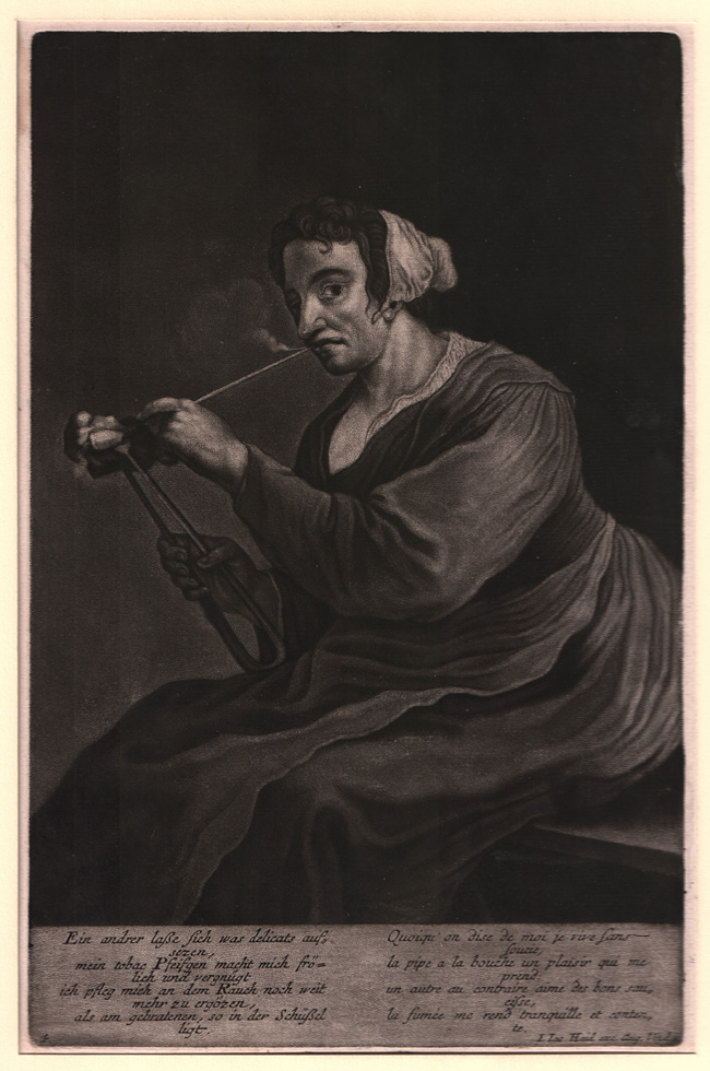 Haid, Woman Lighting Her Pipe